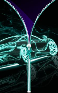 Neon Cars Lock Screen Zipper apk screenshot
