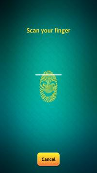 Smiley Face Fingerprint Lock Scanner apk screenshot