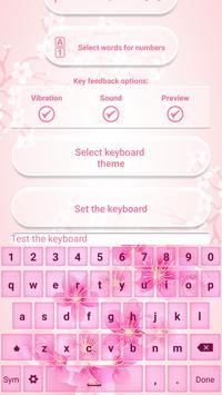 Sakura Keyboard with Emoticons poster