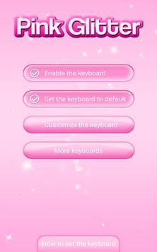 Pink Glitter Emoticon Keyboard screenshot 5
