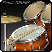 Simple Drums Rock - Realistic Drum Set आइकन