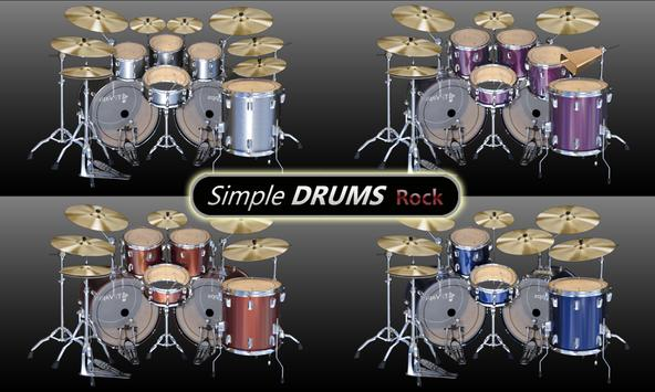 Simple Drums Rock - Realistic Drum Set पोस्टर