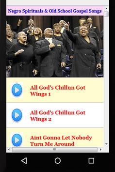 Negro Spirituals & Old School Gospel Songs screenshot 1