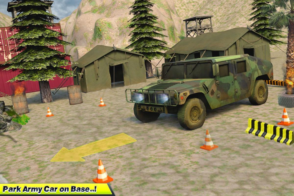 US Army Real Truck Parking Street Legends 3D 3