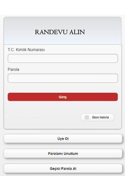 Hastane Randevu Alma Sistemi - Alternatif Uygulama screenshot 1