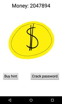 Crack the password poster