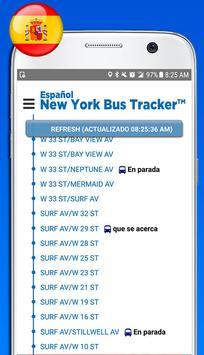 Español New York Bus Tracker™ poster
