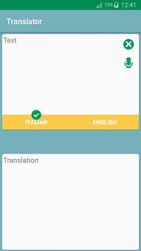 English Italian Translator App poster