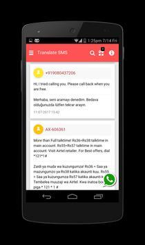 Translate SMS to Turkish - SMS'i çevir screenshot 1
