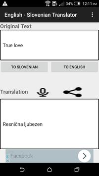 English - Slovenian Translator poster