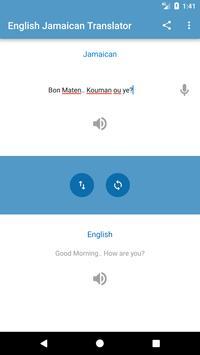 English Jamaican Translator screenshot 1