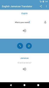 English Jamaican Translator screenshot 2