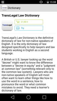 TransLegal's Law Dictionary poster
