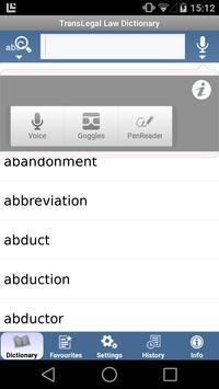 TransLegal's Law Dictionary apk screenshot