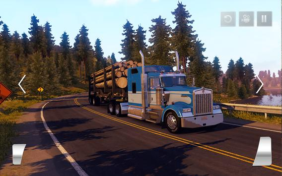 Transporter Truck 2018: Cargo Driving Simulator 3D screenshot 9