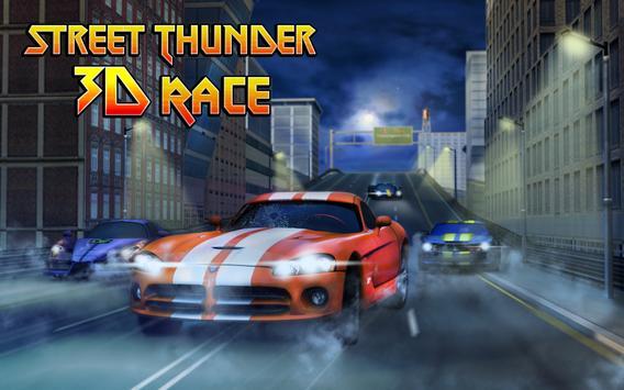 Street Thunder 3D Night Race screenshot 4