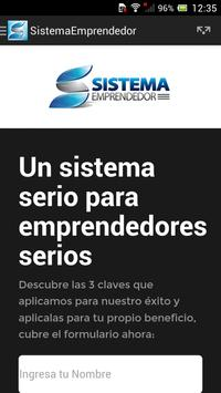 Sistema Emprendedor apk screenshot