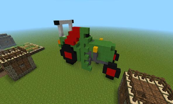 Tractor Farm: Minecraft Ideas poster