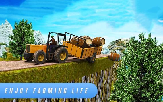 Farm Simulator 2018: Cargo Tractor Driving Game 3D poster