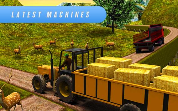 Farm Simulator 2018: Cargo Tractor Driving Game 3D screenshot 5