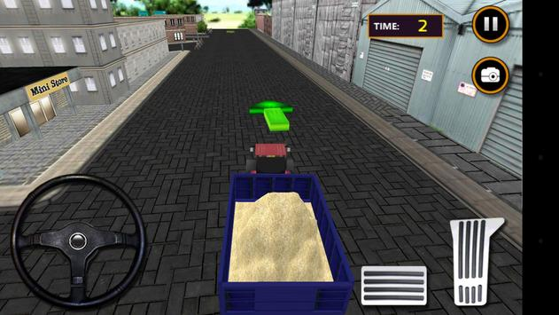 Tractor Sand Transporter 3D screenshot 4