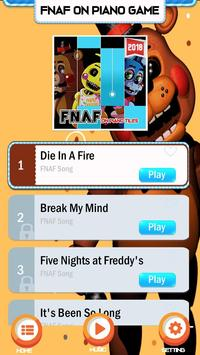 Piano Five Nights at Freddy's Song Game Trend poster
