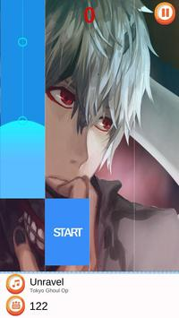 Tokyo Ghoul on Piano Tiles Game screenshot 2