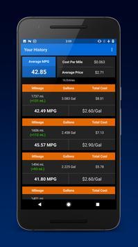Gas Wallet: MPG Calculator apk screenshot