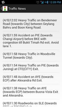 Singapore Traffic Info screenshot 1