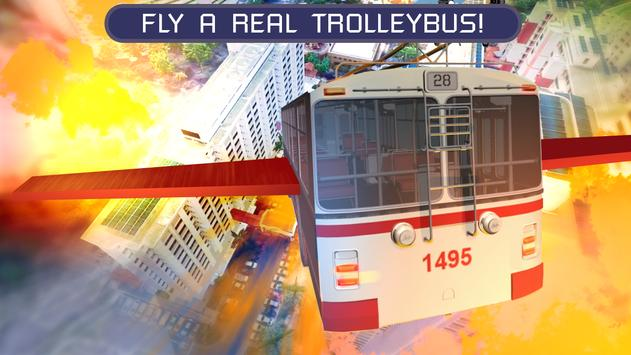 Flying Trolleybus Simulator screenshot 8