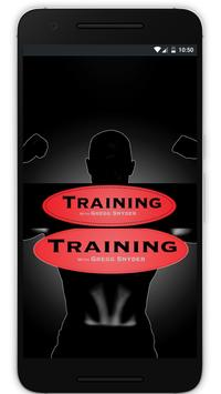 Training with Gregg Snyder poster