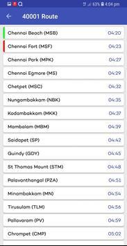 Chennai Suburban Train Timings App screenshot 10