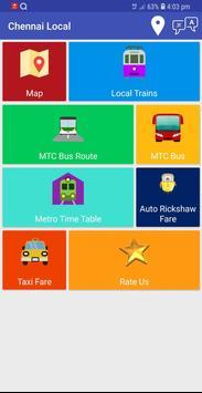 Chennai Suburban Train Timings App screenshot 1
