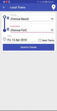 Chennai Suburban Train Timings App screenshot 5