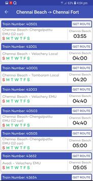 Chennai Suburban Train Timings App screenshot 9