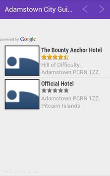 Adamstown City Guide apk screenshot