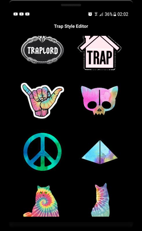 Trap stickers photo editor trap quotes screenshot 5
