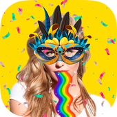 Snap carnival face filters icon