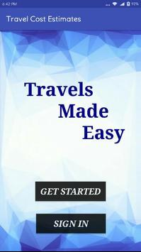 Travel Cost Estimater poster