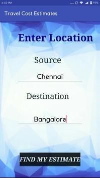 Travel Cost Estimater apk screenshot