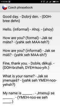 Czech phrasebook screenshot 1