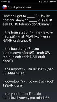 Czech phrasebook screenshot 2