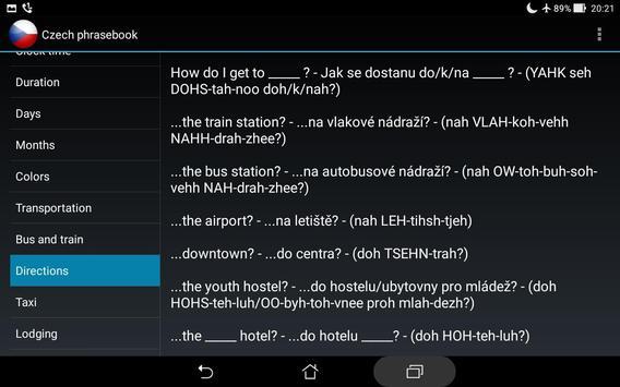 Czech phrasebook screenshot 6