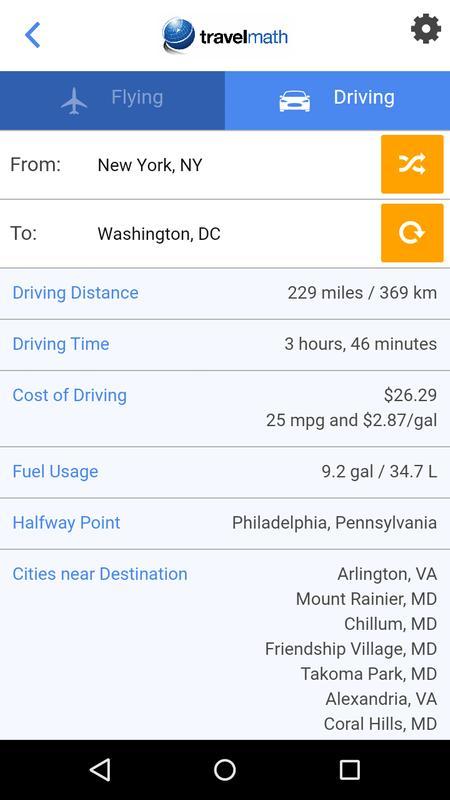 Travelmath Trip Calculator Apk Download Free Travel