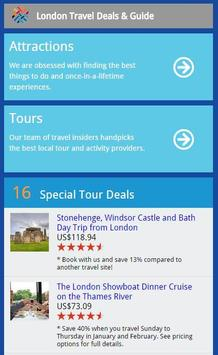 London Travel Deals & Guide poster
