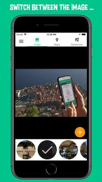 Travelstreetview - locate your pics on StreetView poster