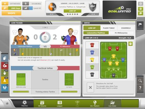 goalunited PRO soccer manager apk screenshot