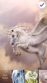 Unicorn Fantaisie Screen Lock screenshot 2