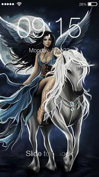 Cuteness Unicorn ART PIN Lock poster