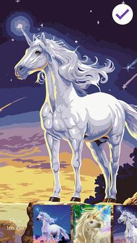 Cuteness Unicorn ART PIN Lock apk screenshot